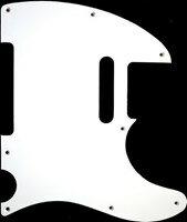 【ネコポス送料無料】日本製62年式8穴テレキャスター用ピックガードホワイト1Pミリ規格TL62-W1P