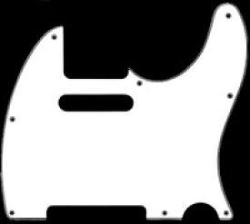 【ネコポス送料無料】日本製 62年式8穴 テレキャスター用ピックガード ホワイト3P ミリ規格 TL62-W3P