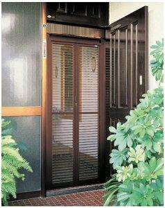 84186 ドア用 網戸 一般タイプ YKKap 玄関用 中折網戸 W:840mm x H:1,861mm ※取付工事ご希望の方はご相談下さい。