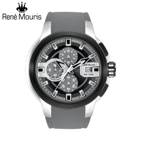 ルネモーリス プロウラー Rene Mouris Prowler 90123RM1 1/10秒クロノグラフ メンズ腕時計 グレー シリコンストラップ フランス時計 スポーツファッション