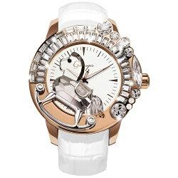 ガルティスコピオ腕時計LAGIOSTRA1馬13ホワイト/ローズゴールド