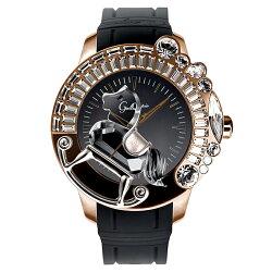 ガルティスコピオ腕時計LAGIOSTRA1馬14ブラック/ローズゴールド