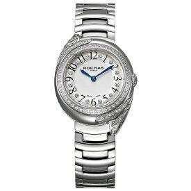 ROCHAS(ロシャス)レディース腕時計 FEATHER09 シルバー/シルバー SSブレスレット メタルブレス フェザーモチーフ パリコレ ラグジュアリーファッション フレグランス