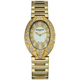 フレグランスが世界的に有名なフランスのファッションブランド ROCHAS(ロシャス)のレディース腕時計 RJ02 ホワイト/ゴールド SSブレスレット メタルブレス 白蝶貝 ラグジュアリー スイス製