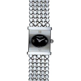 フレグランスが世界的に有名なフランスのファッションブランド ROCHAS(ロシャス)のレディース腕時計 RJ33 ブラック/シルバー SSブレスレット ブレスウォッチ ラグジュアリー スイスメイド