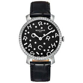 フレグランスが世界的に有名なフランスのファッションブランド ROCHAS(ロシャス)のレディース腕時計 RJ09 ブラック/シルバー/ブラック アルファベット パリコレ 香水