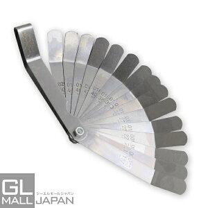 【クリックポスト便】角度付きシックネスゲージ 16pc [0.127mm-0.508mm] 折りたたみ式 ミリ・インチ表記対応 / 隙間測定 各種調整 計測 工具