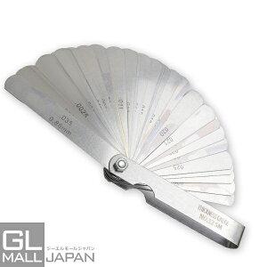 【クリックポスト便】シックネスゲージ 32pc [0.04mm-0.88mm] 折りたたみ式 ミリ・インチ表記対応 / 隙間測定 各種調整 計測 工具