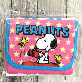 スヌーピー「ポケットポーチ」(ピンク)クリップ付き 小物入れ 可愛い ES186A【あす楽】