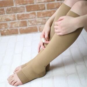 着圧ソックス 段階圧力設計足口 20hPa 足首 30hPa 着圧 オープントゥ ハイソックス 弾性ストッキング ナイガイ URUNA(ウルナ) レディス ソックス 婦人 靴下 脚のハリや疲れ予防に 635-7154ポイント10倍