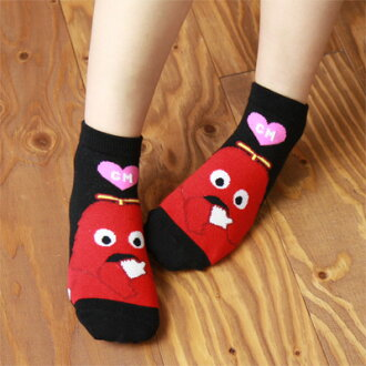 ガチャピン X mook anklet heart and mook Lady's socks socks 3797-202 points 10 times