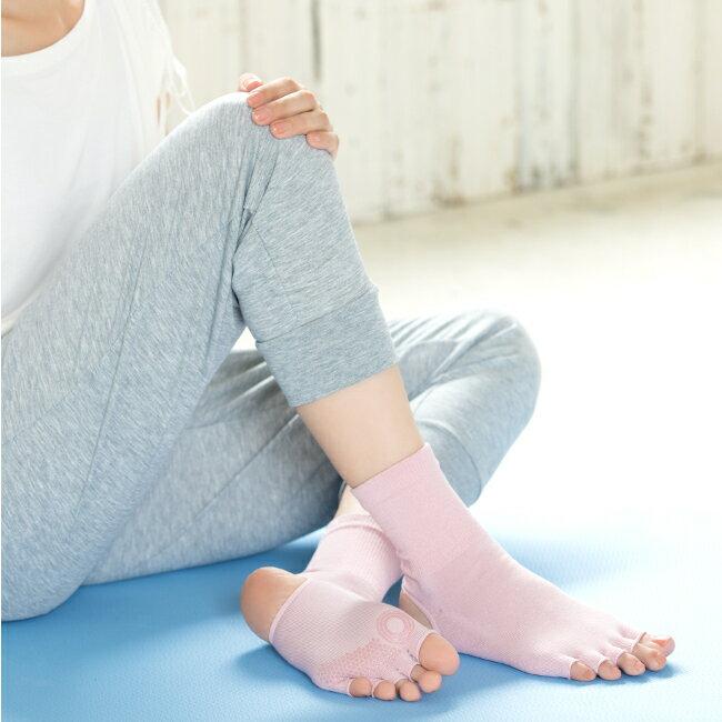 ナイガイ BODY CLOTHING(ボディクロージング)yoga&fitness(ヨガ アンド フィットネス )ヨガ用ソックスヒールレス 5本指(指先無し)足底滑り止め付 消臭素材使用 ホットヨガ3032-582母の日 無料ラッピング ポイント10倍