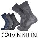 Calvin Klein ( カルバンクライン )Dress メンズ ソックス抗菌防臭 綿混 リンクス格子柄 クルー丈 ソックス メンズ …