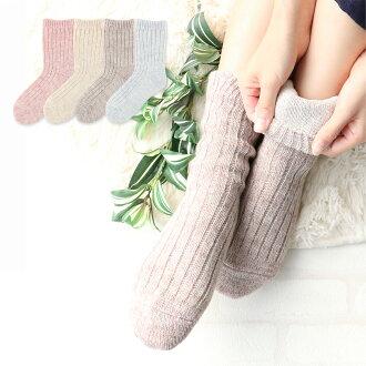 亞麻布刊登商品STYLE4 concept(概念)內外日本製造毛絹混合馬海尼短襪肌膚一側絲綢(絹)、外側毛混合(羊毛)鬆軟的去的雙重的製造短襪重疊穿,是第3張~第4張,但是OK女士女性事情襪子3012-618點數10倍