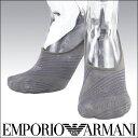 EMPORIO ARMANI ( エンポリオ アルマーニ ) クールビズ メンズ ソックス 靴下 Casual バイアスストライプ フットカバー ソックス男性 ...