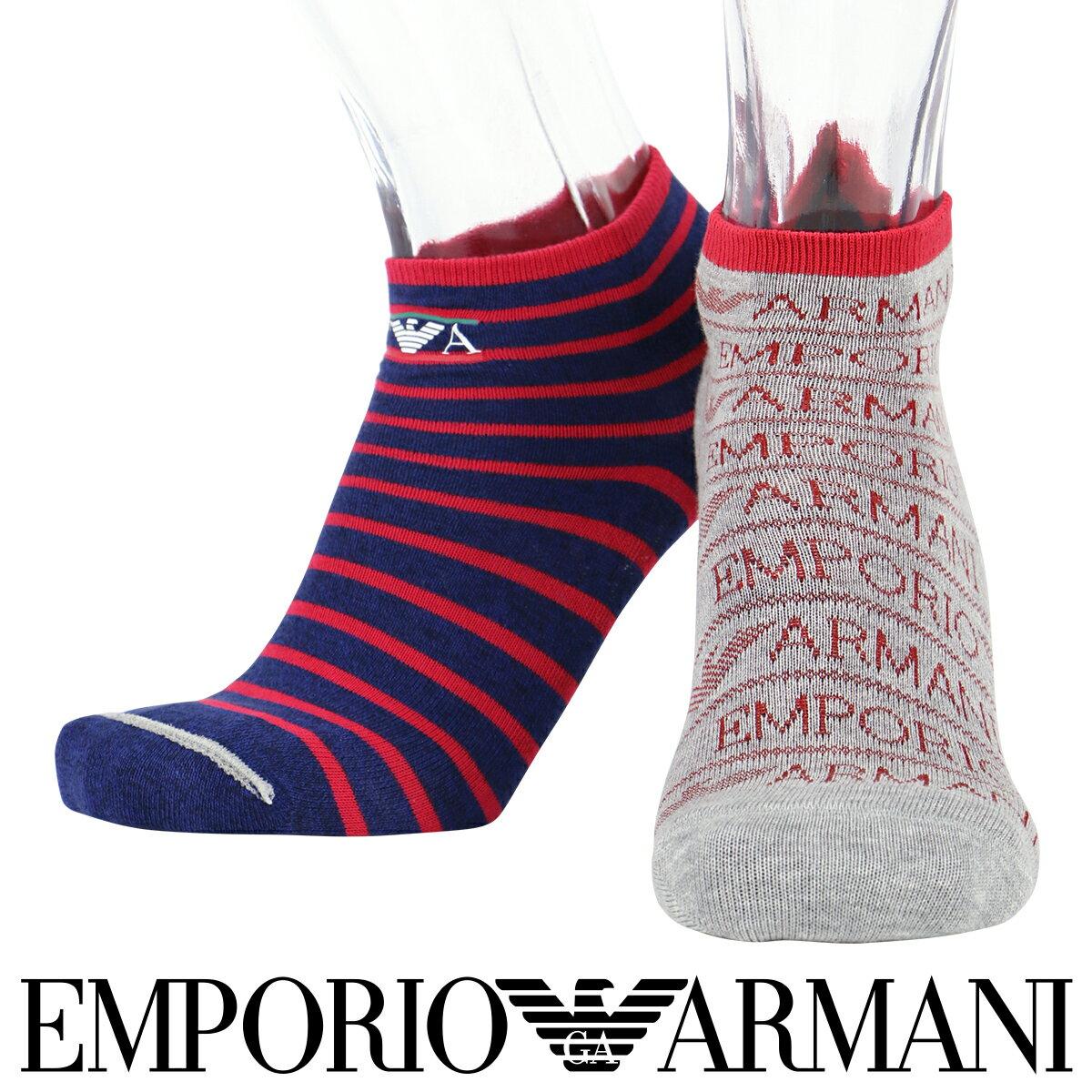 EMPORIO ARMANI ( エンポリオ アルマーニ )メンズ ソックス 靴下フットカバー カバーソックスリバーシブル ショートソックス男性 メンズ プレゼント 贈答 ギフト2322-256スリッポン デッキシューズポイント10倍