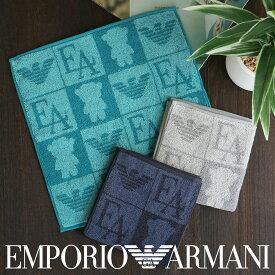 EMPORIO ARMANI ( エンポリオ アルマーニ )マンガベア 綿100% タオルハンカチ(ハンドタオル) 2340-014男性 メンズ プレゼント 贈答 ギフト