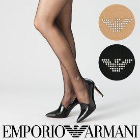 EMPORIO ARMANI エンポリオ アルマーニ婦人 女性用 レディース ストッキングスワロフスキー EAGLE ラインストーン ストッキング パンスト01560320