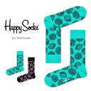 【ポイント20倍】Happy Socks ハッピーソックスBOX ( ボックス )クルー丈 綿混 ソックス 靴下ユニセックス メンズ & レディス プレゼント 贈答 ギフト1A117004