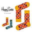 Happy Socks ハッピーソックスFLOWER POWER ( フラワー パワー )クルー丈 綿混 ソックス 靴下ユニセックス メンズ …