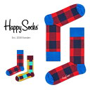 【ポイント20倍】Happy Socks ハッピーソックスLUMBERJACK ( ランバージャック )クルー丈 綿混 ソックス 靴下ユニセックス メンズ & レディス プレゼント 贈答 ギフト1A117016
