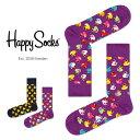 Happy Socks ハッピーソックスRUBBER DUCK ( ラバー ダック )クルー丈 綿混 ソックス 靴下ユニセックス メンズ & …