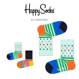 【ポイント20倍】Happy Socks ハッピーソックスSTRIPE&DOT ( ストライプ & ドット )子供 クルー丈 綿混 ソックス 靴下KIDS ジュニア キッズ 12113011