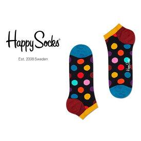 Happy Socks ハッピーソックスBIG DOT ( ビッグ ドット )スニーカー丈 綿混 ソックス 靴下ユニセックス メンズ & レディス プレゼント 贈答 ギフト1A123001ポイント10倍