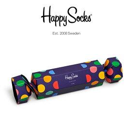 【送料無料】 Happy Socks ハッピーソックスHOLIDAY CRACKER BIG DOT( ホリデー クラッカー ビッグ ドット )2足組 ギフトセット 綿混 クルー丈 ソックス 靴下 GIFT BOXユニセックス メンズ & レディスプレゼント 贈答 ギフト1A147019ポイント10倍