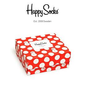 Super Sale限定セール!50%OFFHappy Socks ハッピーソックスHOLIDAY ( ホリデー )2足組 ギフトセット 綿混 クルー丈 ソックス 靴下 GIFT BOX ユニセックス メンズ 【プレゼント 贈答 ギフト】10147020