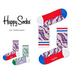 【ポイント20倍】Happy Socks ハッピーソックスWORKSPACE ( ワークスペース )Athletic ミドル丈 パフォーマンス 綿混 ソックス 靴下ユニセックス メンズ & レディス プレゼント 贈答 ギフト1A317012