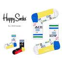 【ポイント20倍】Happy Socks ハッピーソックスWINGDINGS ( ウィングディング )Athletic ミドル丈 パフォーマンス 綿混 ソックス 靴下ユニセックス メンズ & レディス プレゼント 贈答 ギフト1A317014