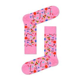 【ポイント20倍】Happy Socks ハッピーソックス【Limited】 Happy Socks × Pink Panther ( ピンクパンサー )Bomb Voyage ( ボンボヤージュ )クルー丈 綿混 ソックス 靴下ユニセックス メンズ & レディス プレゼント 贈答 ギフト1A417003