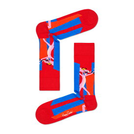 【ポイント20倍】Happy Socks ハッピーソックス【Limited】 Happy Socks × Pink Panther ( ピンクパンサー )Smile Pretty, Say Pink ( スマイルプリティ セイ ピンク )クルー丈 綿混 ソックス 靴下ユニセックス メンズ & レディス 1A417004