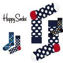 【送料無料+ポイント20倍】Happy Socks ハッピーソックスBIG DOT ( ビッグ ドット )クルー丈 綿混 ソックス 靴下 ユ…