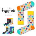 【ポイント20倍】Happy Socks ハッピーソックスBIG DOT ( ビッグ ドット )クルー丈 綿混 ソックス 靴下ユニセックス メンズ & レディスプレゼント 贈答 ギフト1A113005