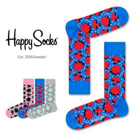 【ポイント20倍】Happy Socks ハッピーソックスCOMIC RELIEF ( コミック リリーフ )クルー丈 綿混 ソックス 靴下ユニセックス メンズ & レディスプレゼント 贈答 ギフト1A113007