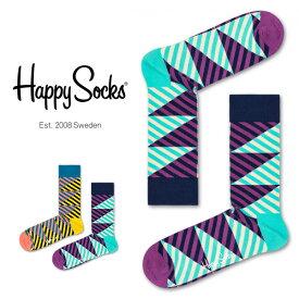 セール!40%OFFHappy Socks ハッピーソックスDIAGONAL STRIPE ( ダイアゴナル ストライプ)クルー丈 綿混 ソックス 靴下ユニセックス メンズ & レディスプレゼント 贈答 ギフト1A113009ポイント10倍