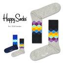 【Super Sale限定30%OFF!】Happy Socks ハッピーソックスFADED DIAMOND ( フェイディド ダイヤモンド)クルー丈 綿混 ソックス 靴下ユニセックス メンズ & レディスプレゼント 贈答 ギフト1A113010