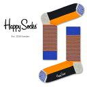 【Super Sale限定30%OFF!】Happy Socks ハッピーソックスHALF STRIPE ( ハーフ ストライプ )クルー丈 綿混 ソックス 靴下 ユニセックス メンズ & レディスプレゼント 贈答 ギフト1A113013