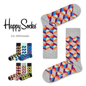 セール!40%OFFHappy Socks ハッピーソックスOPTIC SQURE ( オプティック スクエア )クルー丈 綿混 ソックス 靴下 ユニセックス メンズ & レディスプレゼント 贈答 ギフト1A113023ポイント10倍