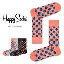 【セール!40%OFF】Happy Socks ハッピーソックスSUNRISE DOT ( サンライズ ドット )クルー丈 綿混 ソックス 靴下 ユニセックス レディース【プレゼント 贈答 ギフト】11113031