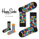 【Super Sale限定30%OFF!】Happy Socks ハッピーソックスTWISTED SMILE ( ツイスト スマイル )クルー丈 綿混 ソックス 靴下ユニセックス メンズ & レディスプレゼント 贈答 ギフト 1A113034