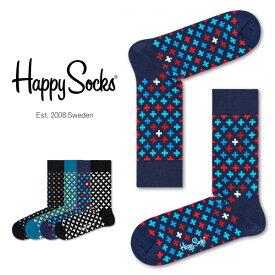 Happy Socks ハッピーソックスPLUS ( プラス )クルー丈 綿混 ソックス 靴下 ユニセックス メンズ & レディスプレゼント 贈答 ギフト1A113041ポイント10倍