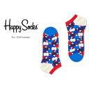 【ポイント20倍】Happy Socks ハッピーソックスDIAMOND DOT ( ダイヤモンド ドット )スニーカー丈 綿混 ソックス 靴…
