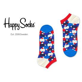 セール!40%OFFHappy Socks ハッピーソックスDIAMOND DOT ( ダイヤモンド ドット )スニーカー丈 綿混 ソックス 靴下ユニセックス メンズ & レディスプレゼント 贈答 ギフト1A123002ポイント10倍