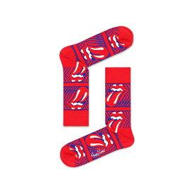 【ポイント20倍】Happy Socks ハッピーソックス【Limited】 Happy Socks × The Rolling Stones ( ローリングストーンズ )Stripe Me Up ( ストライプ ミー アップ)クルー丈 ソックスメンズ&レディスプレゼント 贈答 ギフト1A413002