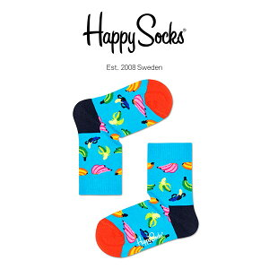 Happy Socks ハッピーソックスBANANA ( バナナ )子供 クルー丈 綿混 ソックス 靴下KIDS ジュニア キッズ 12113026