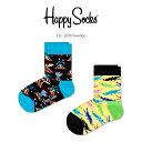 Happy Socks ハッピーソックス 2足組DANGER ( デンジャー )子供 クルー丈 綿混 ソックス 靴下 KIDS ジュニア キッズ…
