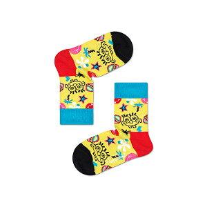 ハッピーソックス【Limited】Happy Socks × Sponge Bob ( スポンジ・ボブ ) SMILE STORM ( スマイル ストーム )子供 クルー丈ソックス 靴下 KIDS ジュニア キッズ 12213011